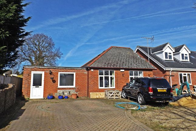 Thumbnail Bungalow for sale in The Drive, New Costessey, Norwich