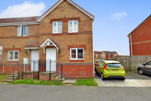 Thumbnail End terrace house for sale in Wellfield Court, Murton