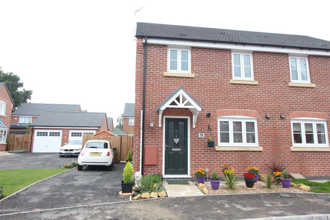 Thumbnail Semi-detached house for sale in Wright Road, Stoney Stanton, Leicester