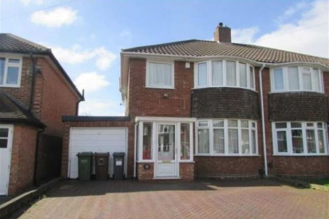 Thumbnail Semi-detached house to rent in Rowlands Crescent, Solihull