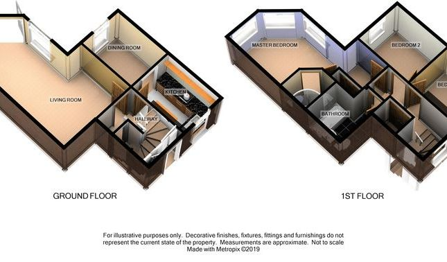 3D Floor Plan of Buckland Walk, Devington Park, Exeter EX6