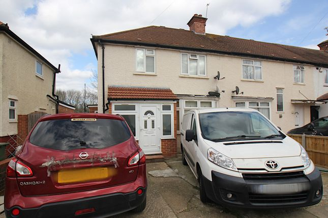 Thumbnail End terrace house to rent in Blandford Waye, Hayes