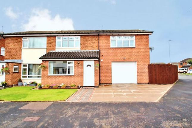 Thumbnail Semi-detached house for sale in Plumtree Way, Syston, Leicestershire