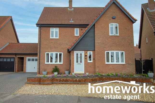 Thumbnail Link-detached house for sale in Wheatcroft Way, Dereham
