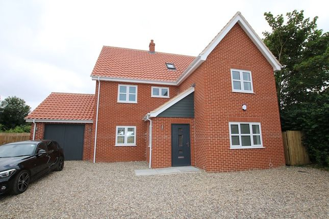 Thumbnail Detached house for sale in St. Peters Close, Rockland St. Peter, Attleborough
