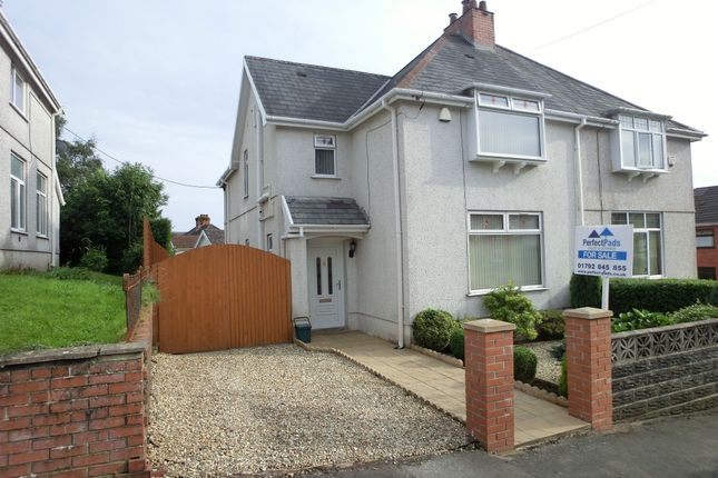 Thumbnail Semi-detached house for sale in Carlton Road, Clydach, Swansea