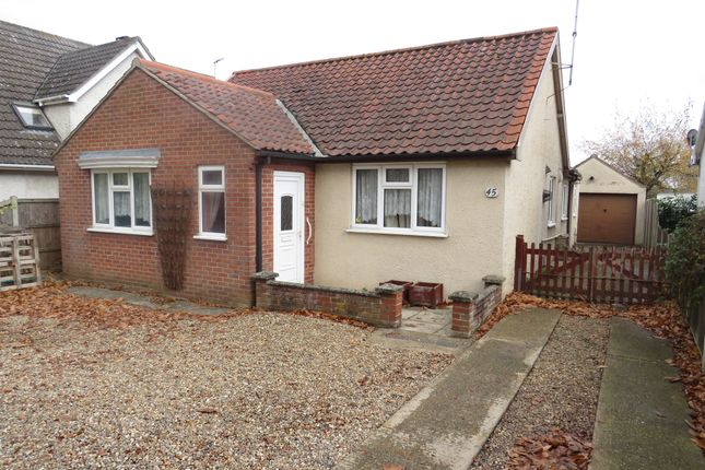 Thumbnail Detached bungalow for sale in Longwater Lane, New Costessey, Norwich