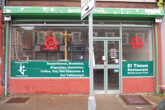 Thumbnail Restaurant/cafe to let in Splott Road, Splott, Cardiff