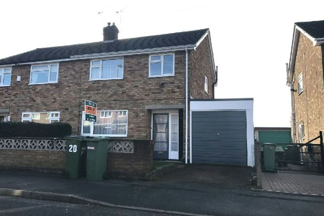 Thumbnail Semi-detached house to rent in Chaucer Street, Narborough, Leicester