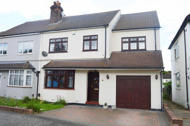 Thumbnail Semi-detached house for sale in Arundel Road, Harold Wood, Romford