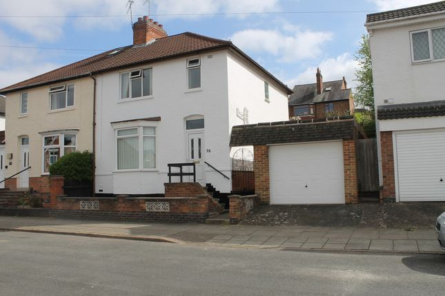Thumbnail Semi-detached house for sale in Dunster Street, Leicester