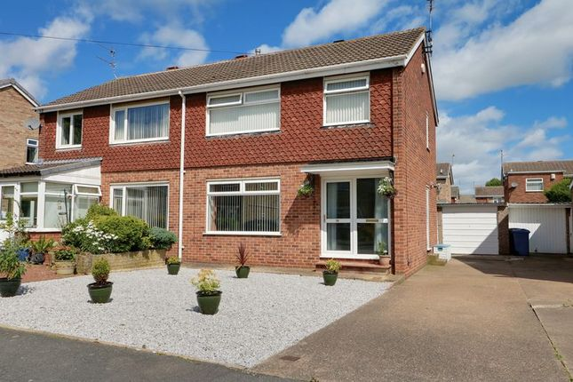 Thumbnail Semi-detached house for sale in Springdale Close, Willerby, Hull