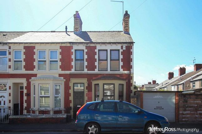 Thumbnail End terrace house to rent in Florence Street, Splott, Cardiff