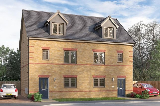 "Thumbnail Semi-detached house for sale in ""The Weybridge"" at Ward Road, Clipstone Village, Mansfield"
