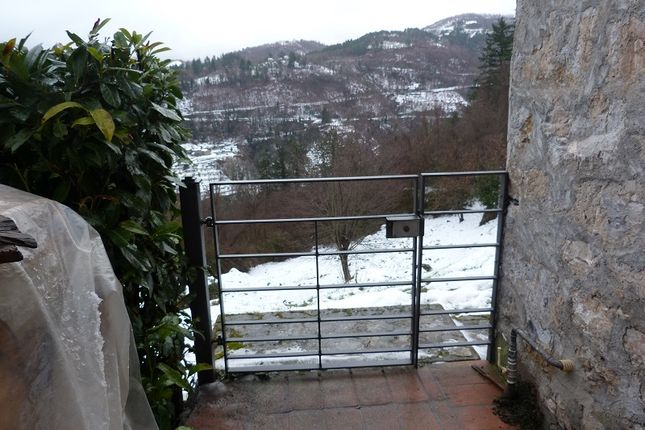 View In Snow of Barga, Lucca, Tuscany, Italy