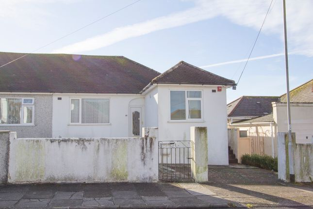 Thumbnail Semi-detached bungalow for sale in 86 Old Woodlands Road, Crownhill, Plymouth