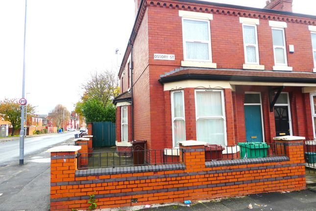Thumbnail End terrace house to rent in Ossory Street, Rusholme, Manchester