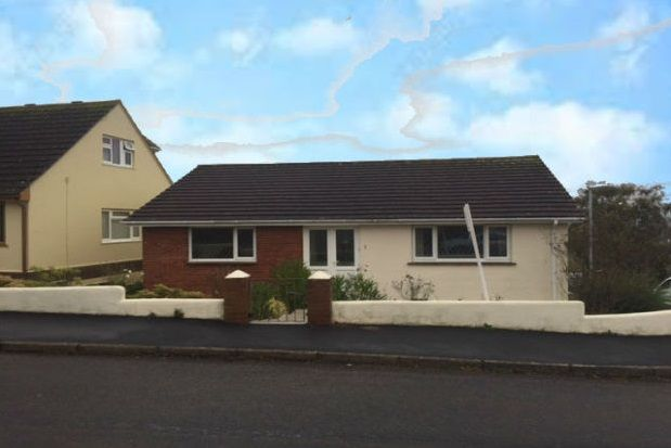 Thumbnail Bungalow to rent in East Cliff Gardens, Dawlish