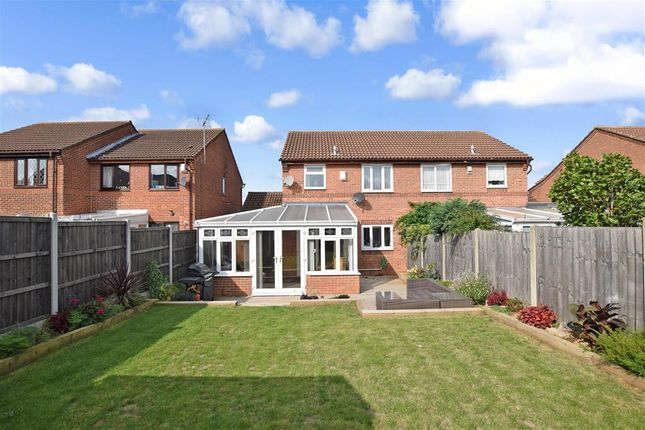Thumbnail Semi-detached house for sale in Willowmead, Leybourne, Kent