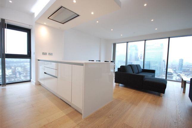 Thumbnail Flat to rent in Horizons Tower, 1 Yabsley Street, London