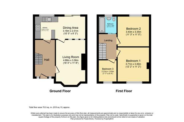 Floor Plan of Rotherham Road, Holbrooks, Coventry CV6