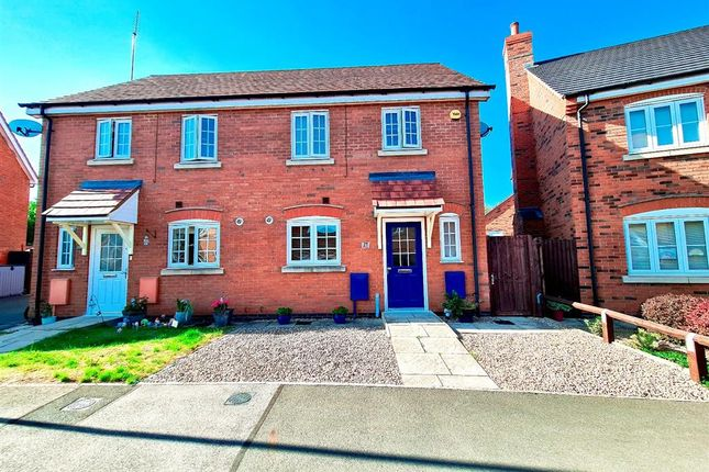 Thumbnail Semi-detached house for sale in Yaffle Crescent, Desborough, Kettering