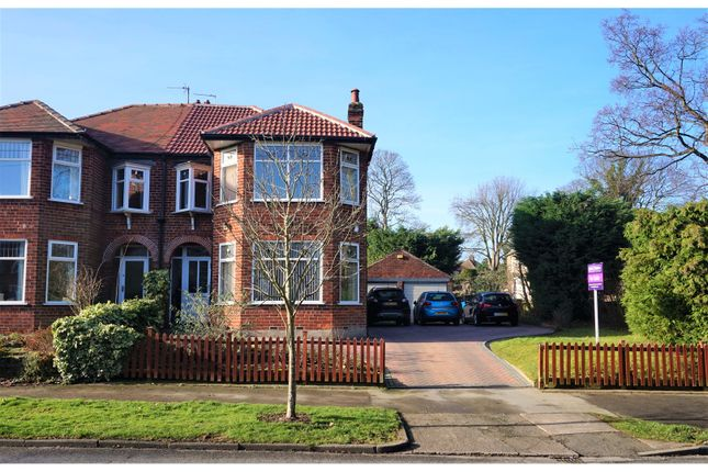 Thumbnail Semi-detached house for sale in Elms Drive, Kirk Ella, Hull
