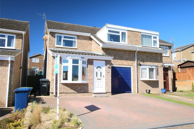 Thumbnail Semi-detached house for sale in Gainsborough Avenue, Eaton Ford, St. Neots