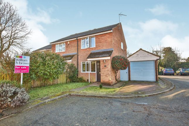 Thumbnail End terrace house for sale in Hardwick Close, Norwich