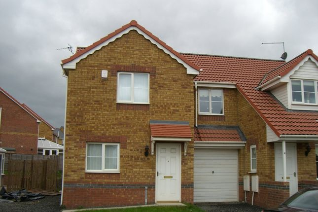 Thumbnail Semi-detached house to rent in St. Helens Drive, Seaham