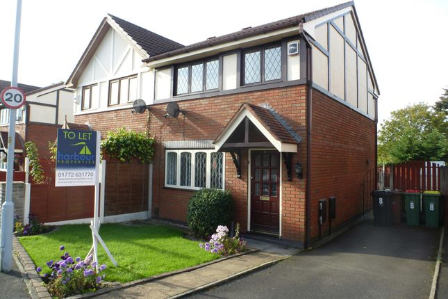Thumbnail Semi-detached house to rent in Dovedale Close, Ingol, Preston