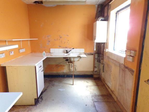 Kitchen of Merlin Street, Toxteth, Liverpool, Merseyside L8