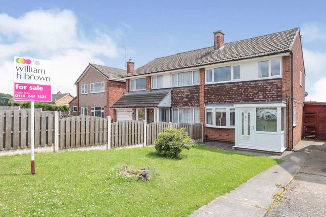 Thumbnail Semi-detached house for sale in Aylsham Drive, Aston, Sheffield
