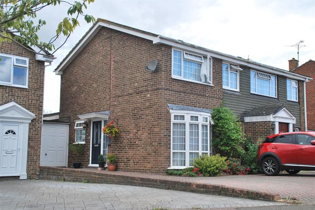 Thumbnail Semi-detached house for sale in Kingshill Drive, Hoo, Rochester