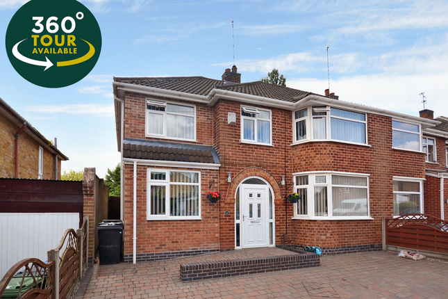 Thumbnail Semi-detached house for sale in Pulford Drive, Scraptoft, Leicester