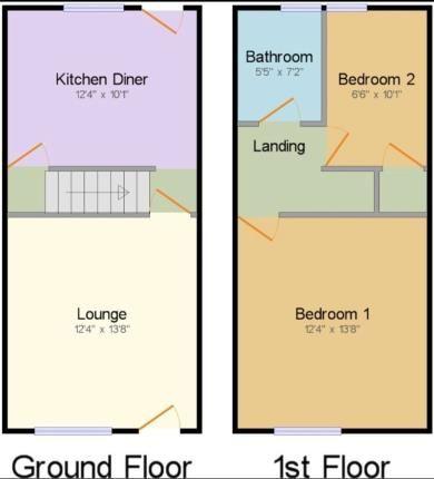 Floorplan of Gannow Lane, Burnley, Lancashire BB12