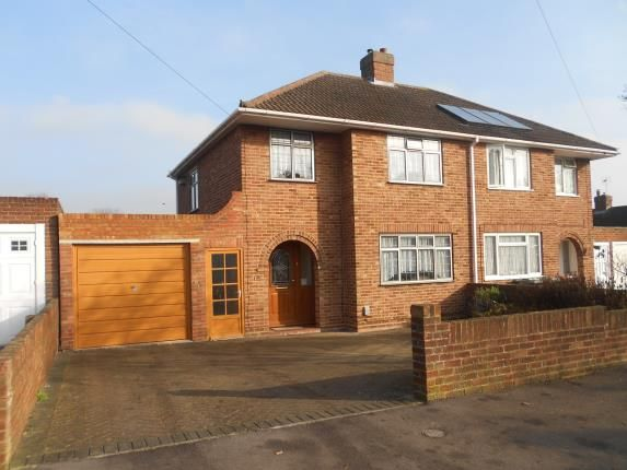Thumbnail Semi-detached house for sale in Fairholme, Bedford, Bedfordshire
