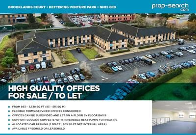 Thumbnail Office for sale in Brooklands Court, Kettering Venture Park, Kettering