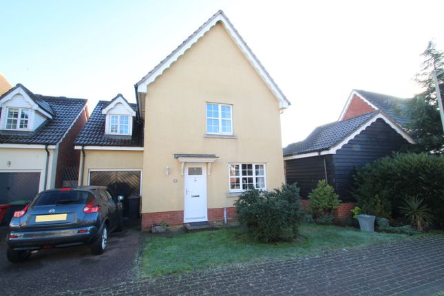 Thumbnail Detached house for sale in Nightingale Close, Stowmarket