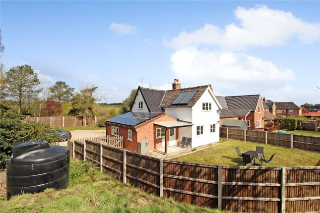 Thumbnail 3 bed semi-detached house to rent in Hillside Cottage, Swainsthorpe, Norwich, Norfolk