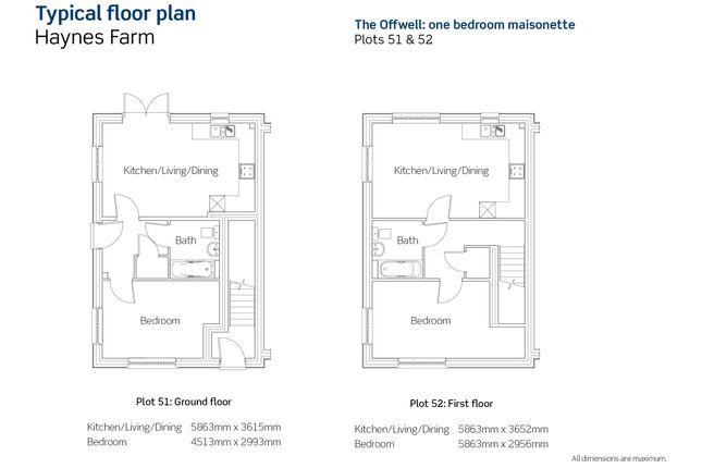 1 bedroom flat for sale in Hayne Lane, Gittisham, Honiton