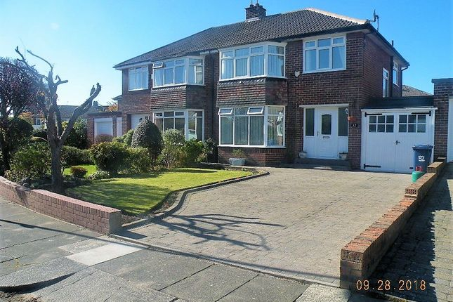 Thumbnail Semi-detached house to rent in Briardene Crescent, Gosforth, Newcastle Upon Tyne