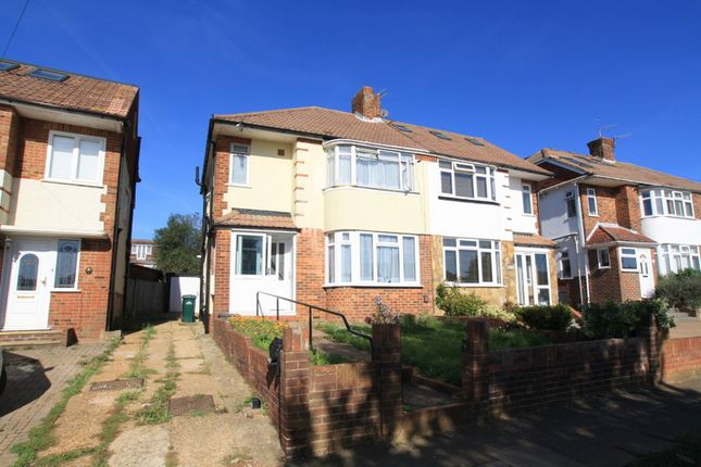 Thumbnail Semi-detached house to rent in Fallowfield Crescent, Hove