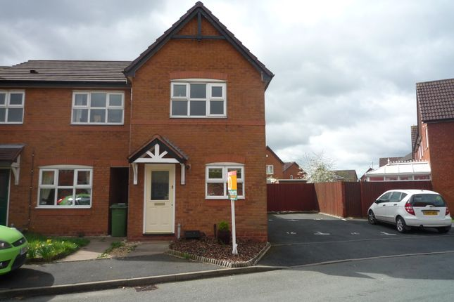 Thumbnail End terrace house to rent in Waterbrook Way, Birdgtown, Cannock, Staffs