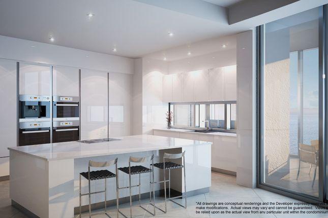Penthouse White Kitchen Option At The Porsche Design Tower In Miami