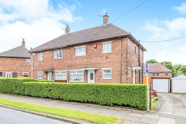 Thumbnail Semi-detached house for sale in Pembridge Road, Blurton, Stoke-On-Trent