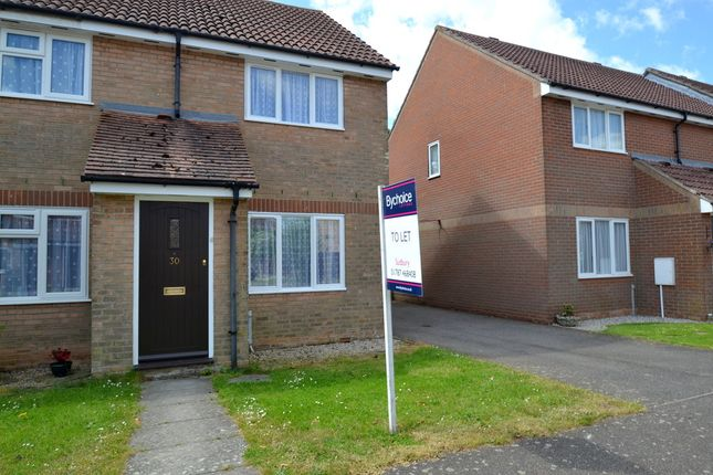 Thumbnail End terrace house to rent in Lynns Hall Close, Great Waldingfield, Sudbury