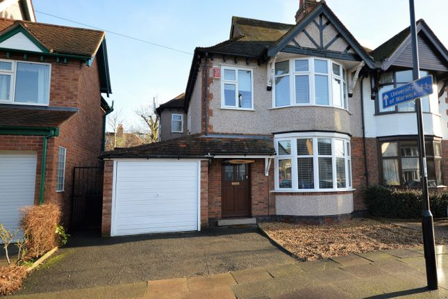 Thumbnail Semi-detached house for sale in Stoneleigh Avenue, Earlsdon, Coventry
