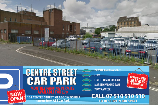 Parking/garage to let in Centre Street, Glasgow