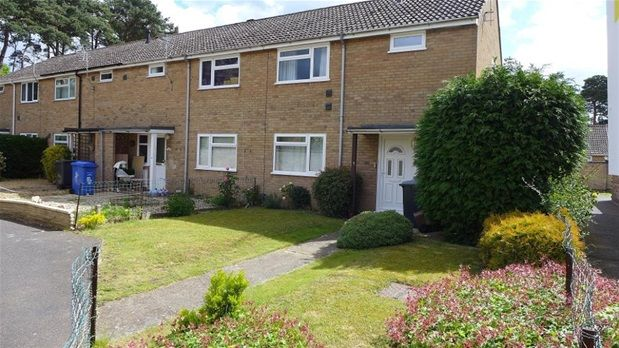 Thumbnail Terraced house to rent in Girton Close, Mildenhall, Bury St. Edmunds